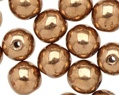 Czech Glass Bronze Round 6mm