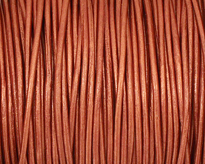 Copper (metallic) Round Leather Cord 1.5mm