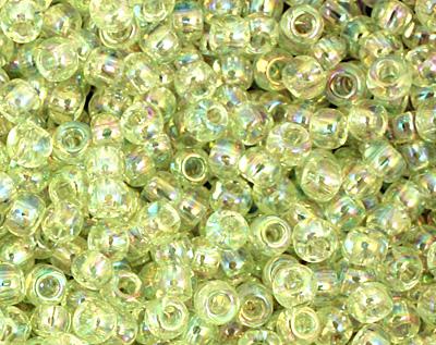 TOHO Dyed Rainbow Lemon Mist Round 11/0 Seed Bead
