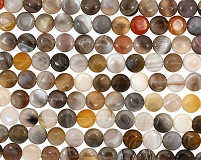 Botswana Agate Puff Coin 12mm