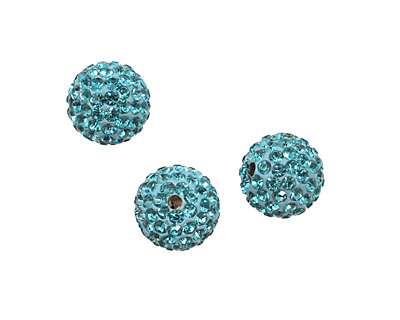 Aquamarine Pave Round 12mm