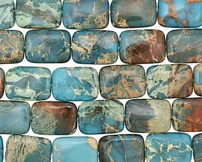 Turquoise Impression Jasper Thin Pillow 30x22mm