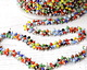 Zola Elements Multi Color Seed Beads on Imitation Rhodium (plated) Chain