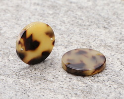 Zola Elements Light Tortoise Shell Acetate Coin Link 20mm
