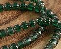 Czech Glass Emerald Lantern 6mm