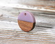 Walnut Wood & Lavender Resin Coin Focal 15mm