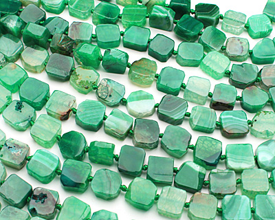 Green Agate Irregular Square 13-15mm