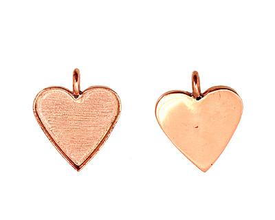 Copper Heart Bezel 25mm