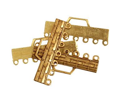 Brass Woven Bar 1-7 Link 32x12mm
