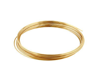 German Style Wire Non Tarnish Brass Square 20 gauge, 2 meters