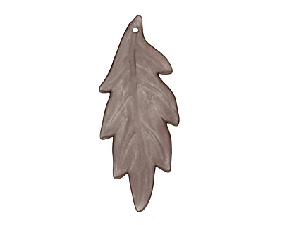 Lucite Smoke Ridged Leaf 18x42mm