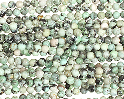 Grass Green Turquoise Round 4mm
