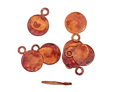 Patricia Healey Copper Flat Circle Charm 13x18mm