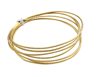 German Style Wire Non Tarnish Brass Twist Pattern Round 16 gauge, 1 meter