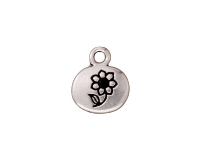 TierraCast Antique Silver (plated) Grow Charm w/ Glue In 13x15mm