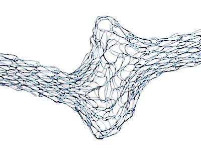 WireLace Silver Blue Ribbon 3mm