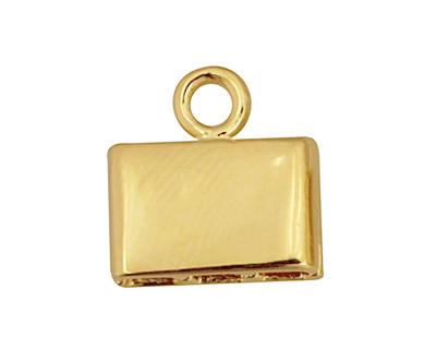 SilverSilk Gold (plated) Triple Strand End Cap 12mm