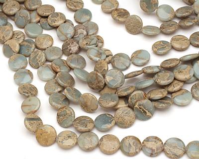 Impression Jasper Puff Coin 18mm