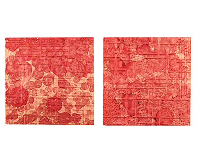 Lillypilly Red Wine Bamboo Embossed Patina Copper Sheet 3