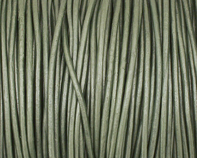 Ocean Green (metallic) Round Leather Cord 1.5mm