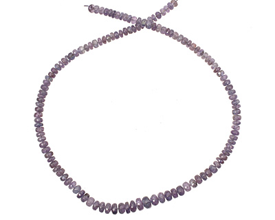 Tanzanite Faceted Rondelle Graduated 5-9mm
