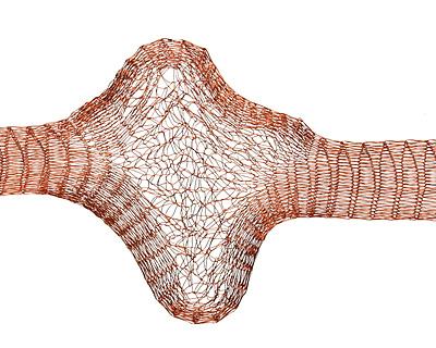 Artistic Wire Brown Mesh 10mm, 1 meter