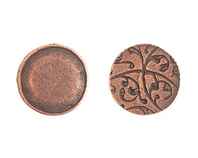 Nunn Design Antique Copper (plated) Crest Seal Tag 13mm