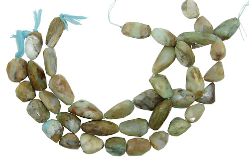 Peruvian Blue Opal Faceted Nuggets (large) 18-30x14-20mm