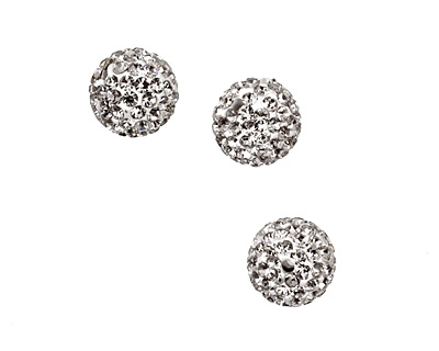 Crystal Pave Round 10mm (1.5mm hole)