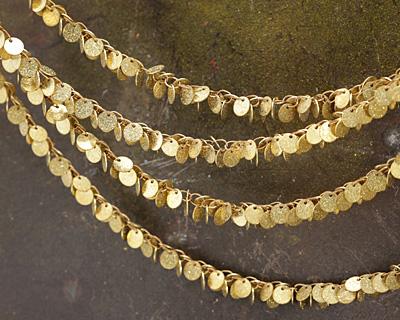 Zola Elements Stardust Dancing Coins Brass Chain