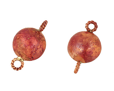 Patricia Healey Copper Puff Coin Link 28x17mm