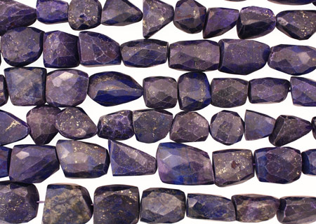 Lapis Faceted Nugget 15-25x12-21mm