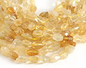 Citrine Faceted Nugget 10-13x7-10mm