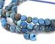 Larimar Blue Crazy Lace Agate (Matte) Round (Large Hole) 8mm
