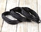Natural Black Round Leather Cord 2mm, 32 feet