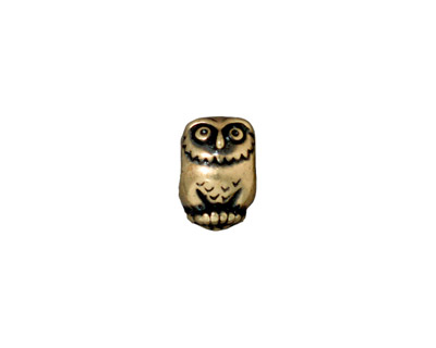 TierraCast Antique Brass (plated) Owl Euro 8x12mm