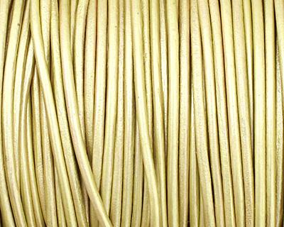 Maina (metallic) Round Leather Cord 1.5mm