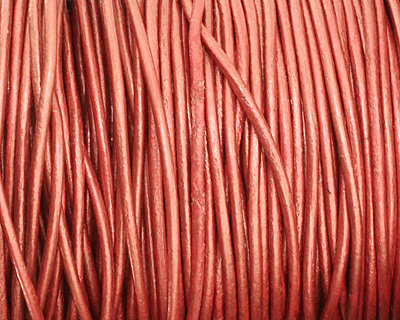 Russet (metallic) Round Leather Cord 2mm