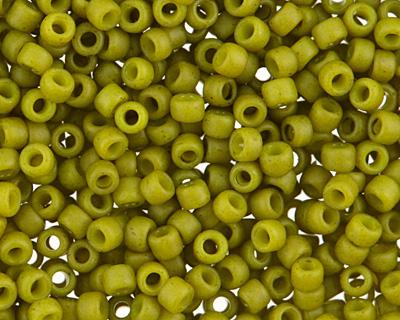 TOHO Semi-Glazed Olive Round 15/0 Seed Bead