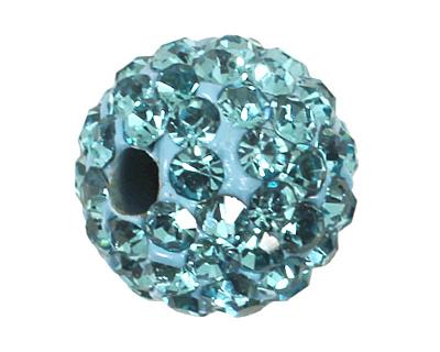 Aquamarine Pave Round 8mm