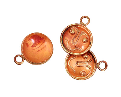 Patricia Healey Copper Smiley Face Charm 18x23mm