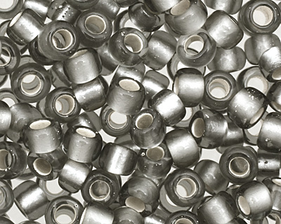TOHO Gray (with Frosted Silver Lining) Round 8/0 Seed Bead