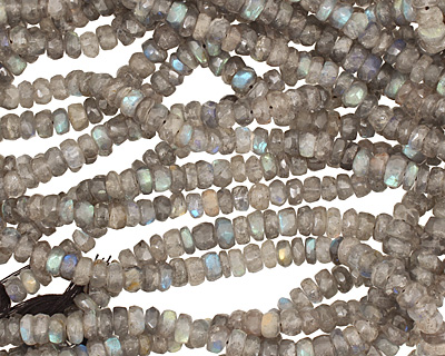 Labradorite Faceted Irregular Rondelle 5-6mm