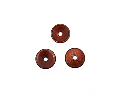 C-Koop Enameled Metal Ruby Red Chip 3-4x12-13mm