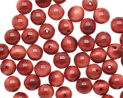 Tagua Nut Rhubarb Round 11-12mm
