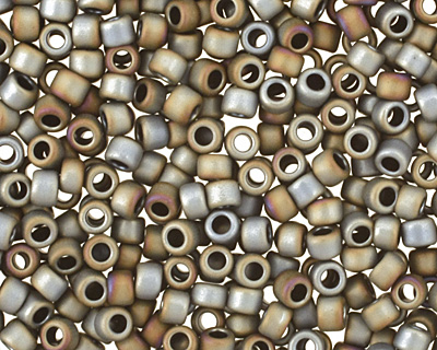 TOHO Matte Iris Gray Round 15/0 Seed Bead