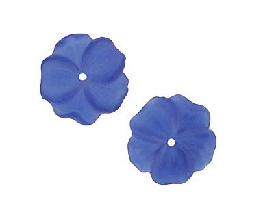Matte Sapphire Lucite Buttercup Flower 4x14mm