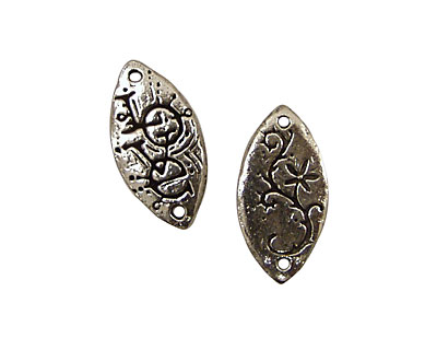 Green Girl Pewter Love 24x12mm