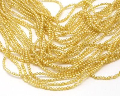 Lemon Ice Cubic Zirconia Faceted Round 2mm