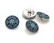 Czech Glass Iridescent Light Sapphire Starflower Button 18mm